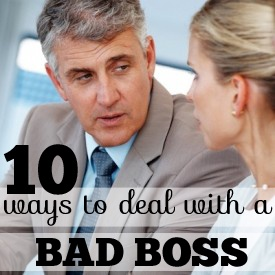 dealing with difficult boss