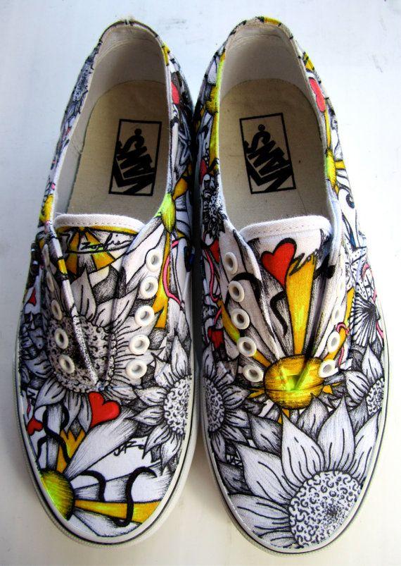 Custom Shoes by Zopfis on Etsy, $200.00
