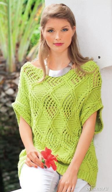 Вязание спицами туники и платья модели и схемы