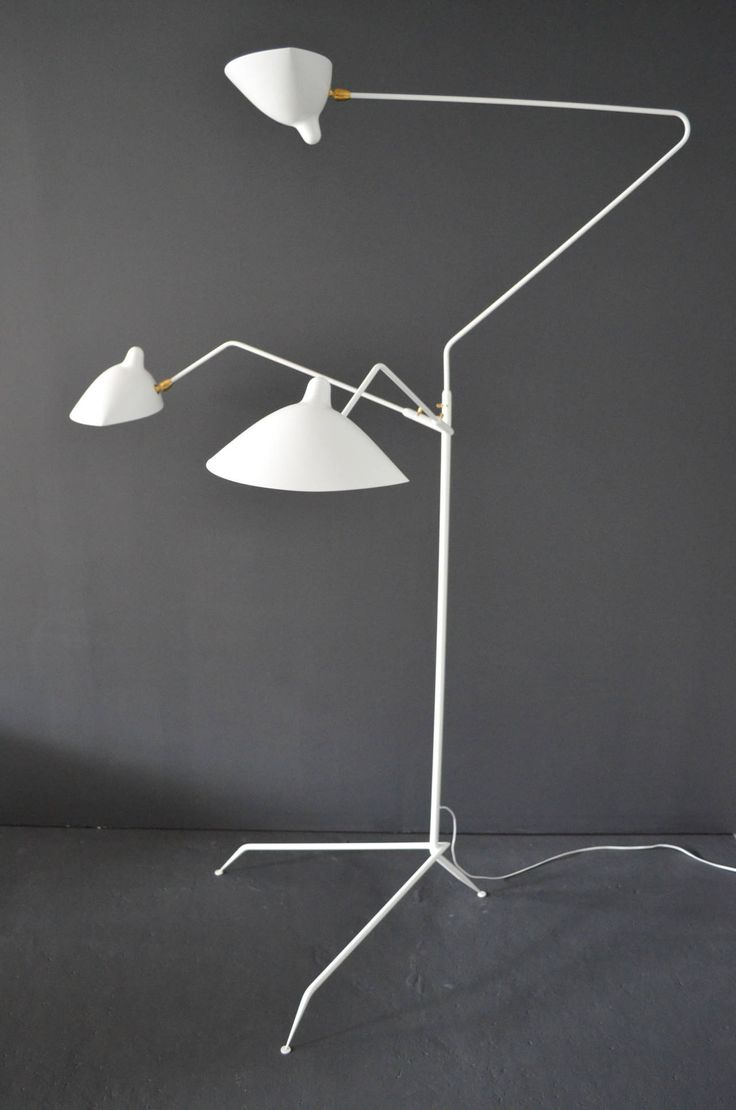 219 best serge mouille images on pinterest sconces appliques standing lamp with three arms by serge mouille arubaitofo Images
