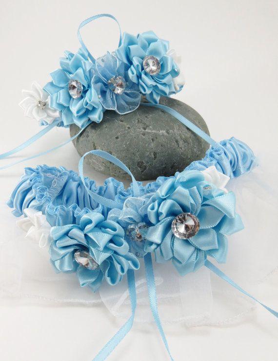 Blue Wedding Garter Set Something Bridal By AngelicasBridal 3000
