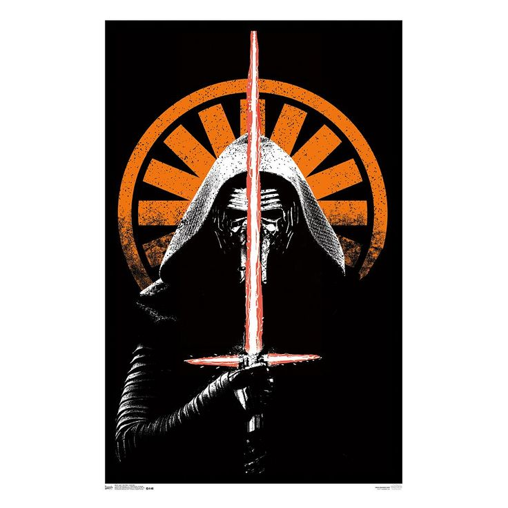 Star Wars: Episode VII The Force Awakens Kylo Ren Poster by Art.com, Orange