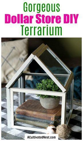 Dollar Store DIY Terrarium- Dollar Store Decor DIY