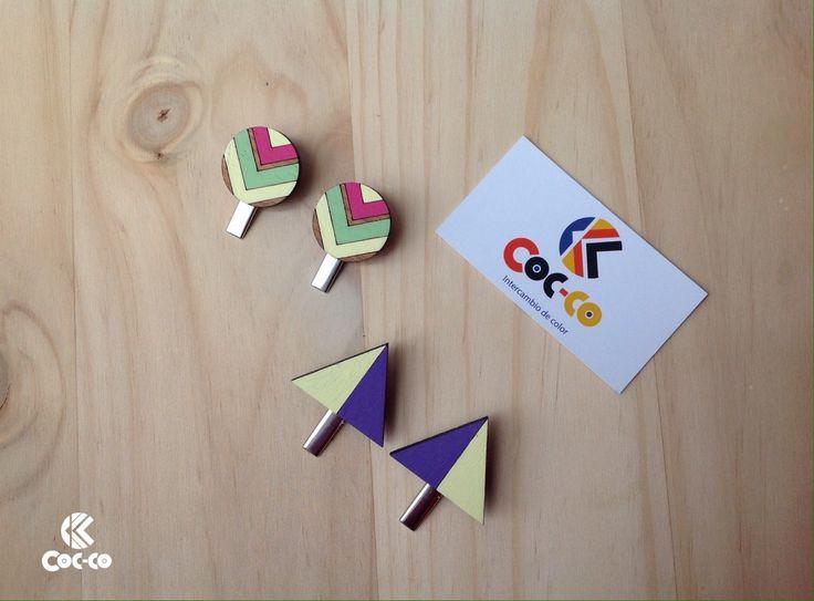 Hebillas color Cocco.  De Nuestra Línea Geometriko