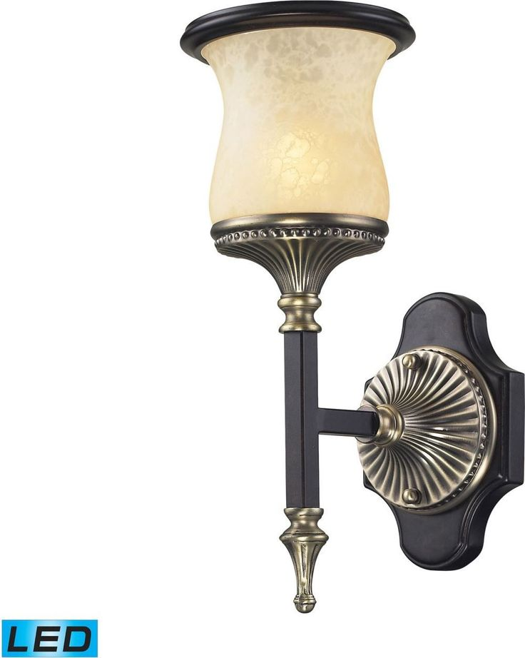 Georgian Court 1 Light Led Wall Sonce In Antique Bronze and Dark Umber