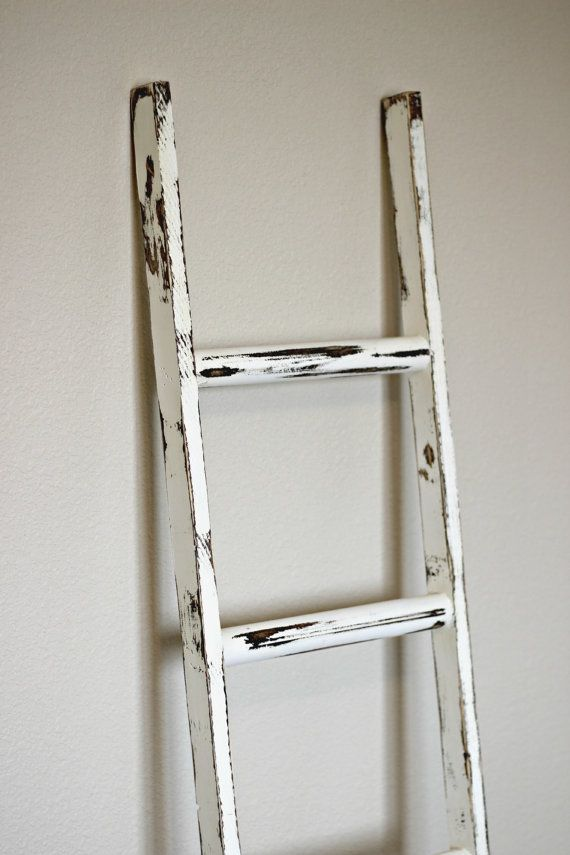 distressed ladder bookcase 3