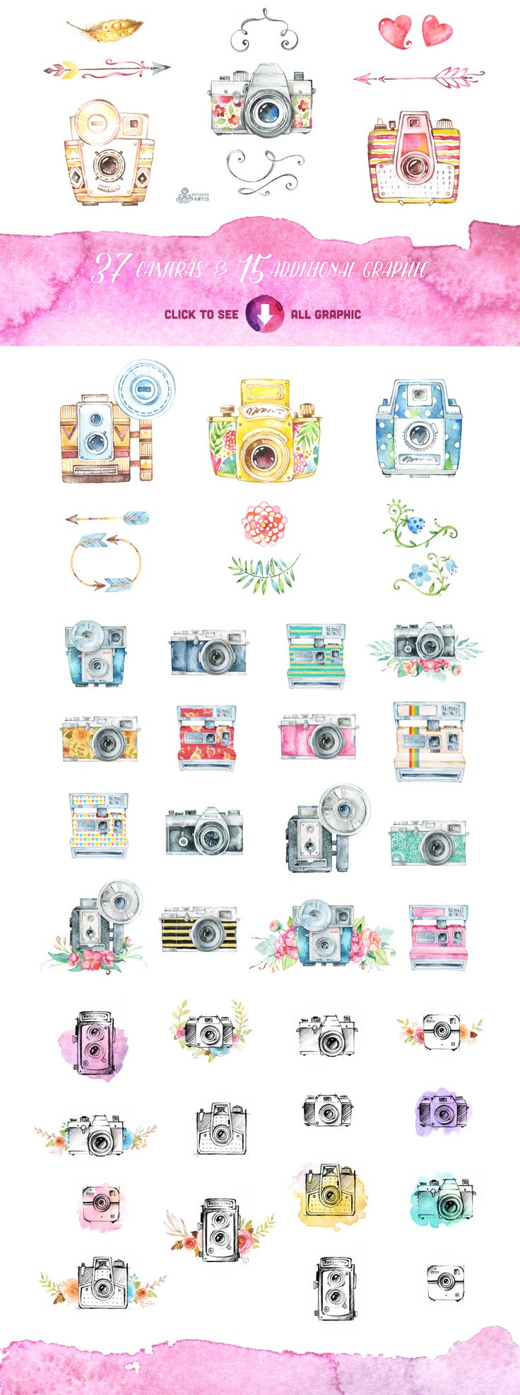 Great Pack! Cameras clipart by OctopusArtis on Creative Market