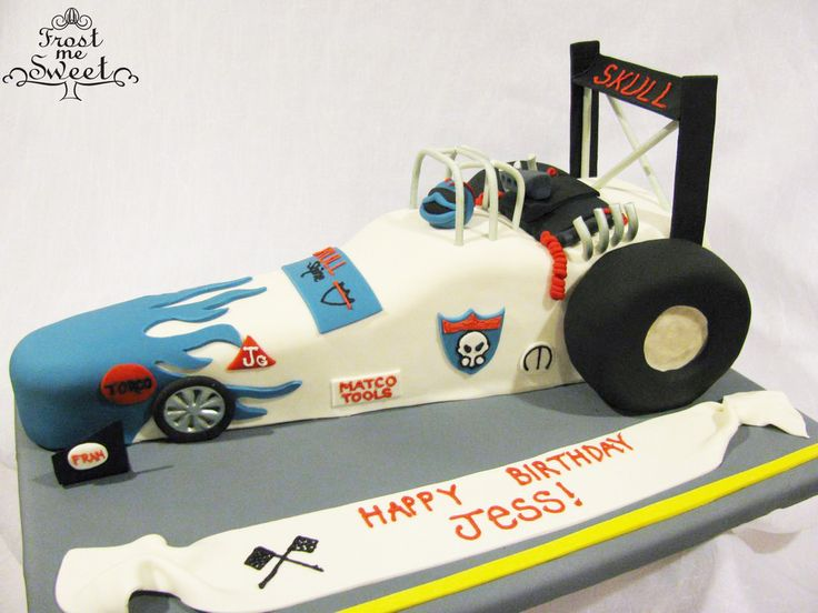 drag race car cake