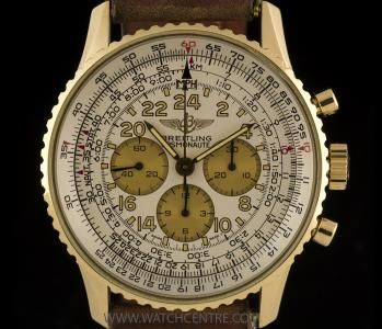 Breitling 18k Yellow Gold Cosmonaute Navitimer Chronograph Gents K12019. Our Price:£5500!!!! Call or Text Now On:07885 661 038 and Quote:10091501 For More Information. #Breitling #gold #navitimer #cosmonaute #chronograph #gents #wristwatch #luxury #timepiece #watchcentre #london