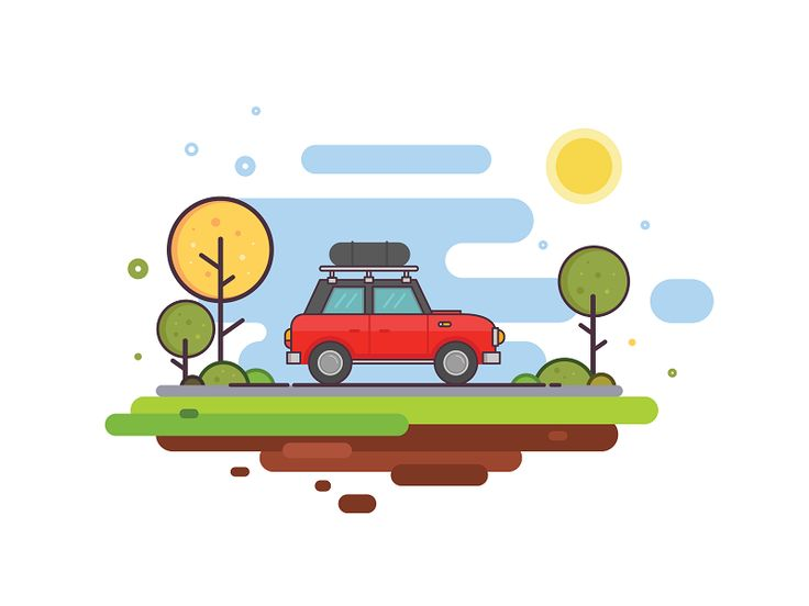 Family Car Illustration