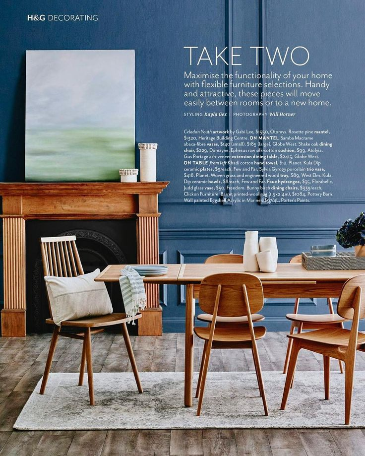 Just landed on our desk August edition of @houseandgarden! 'Take Two' styled by @kayla_gex, features highly transportable and highly covetable furniture with Porter's Paints Eggshell acrylic in colour Admiralty Navy. Beautifully captured by Will Horner #porterspaints #australianhouseandgarden #kaylagexstylist #eggshellacrylic #admiraltynavy #welltakethelot
