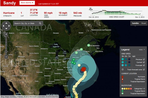 Tracking Hurricane Sandy the high-tech way | The Right Click - Yahoo! News Canada