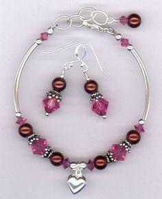 Custom Made Revel In The Love ~ Swarovski Crystal Pearl Sterling Silver Bracelet