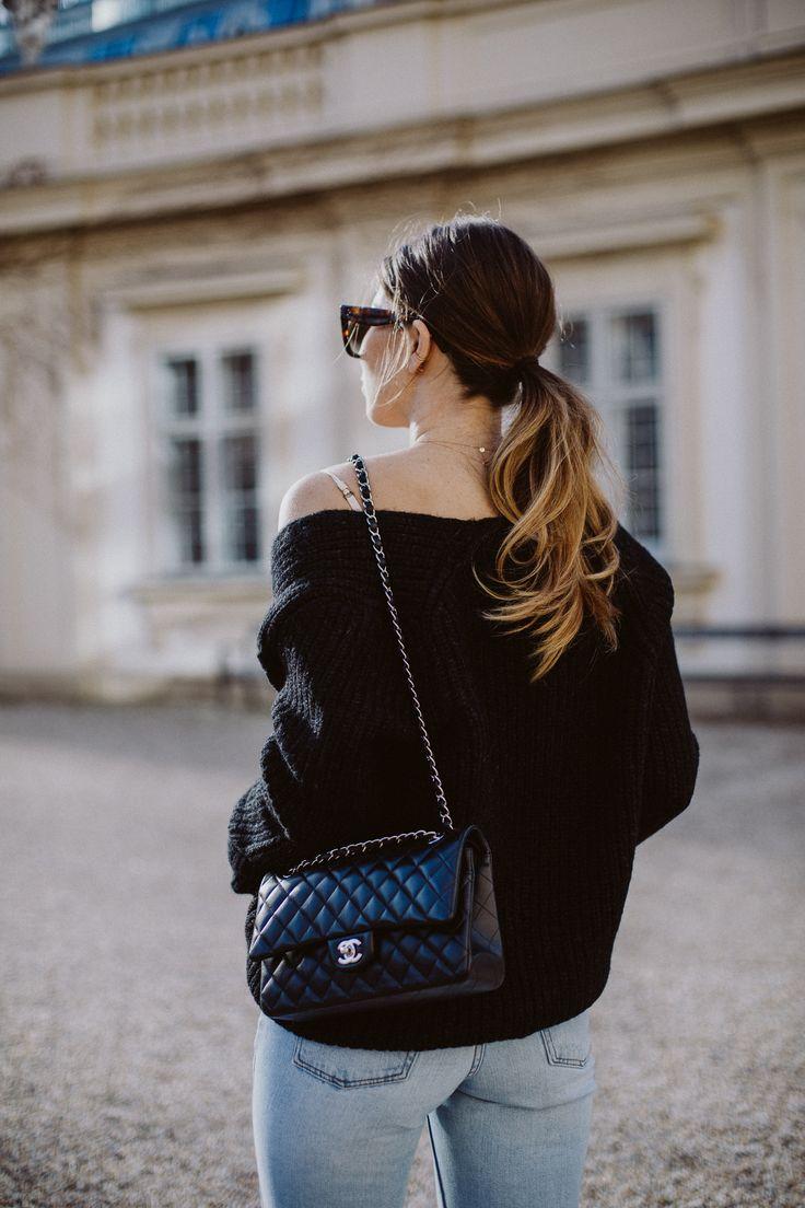 Outfit: Chanel classic flap bag, medium, lambskin | Bikinis & Passports