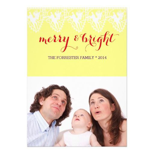 Merry Bright Family Photo Christmas Holiday card