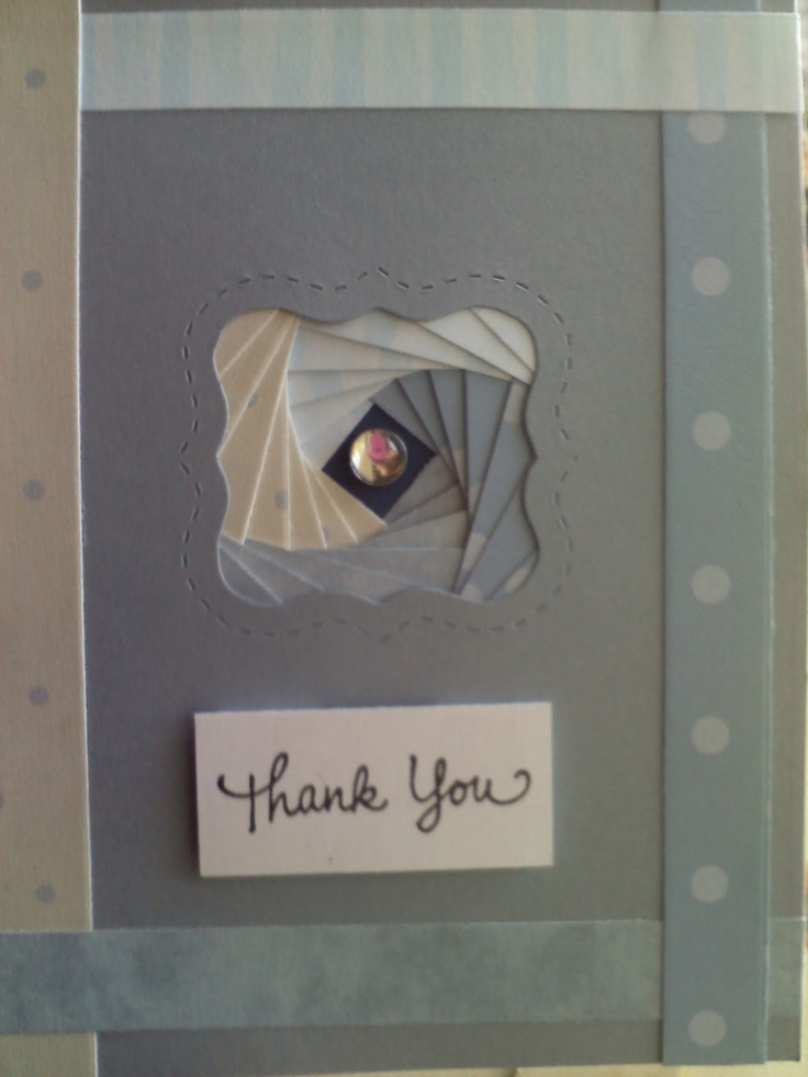 Folding Card Making Ideas Part - 27: My First Iris Fold Card