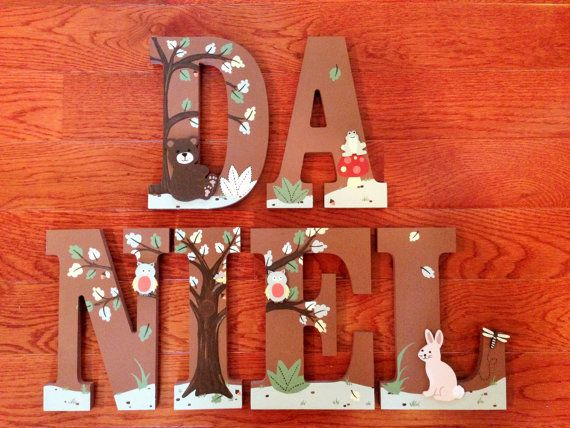 Hand-Painted Personalized Wood Letters to by SweetDreamsLetters