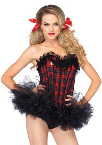 Nice Costume Accessories Easy A plaid school girl corset just added...