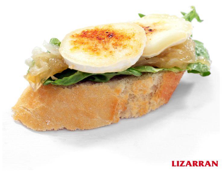Rulo de queso de cabra con cebolla pochada #Lizarran #Pinchos