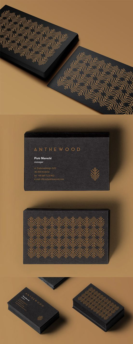 Gold Patterned Business Card