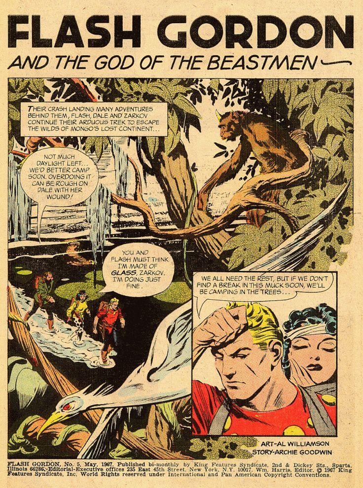 newspaper strip reprints flash gordon 1977