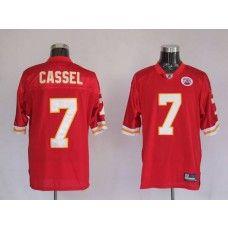 Chiefs #7 Matt Cassel Red Stitched NFL Jersey