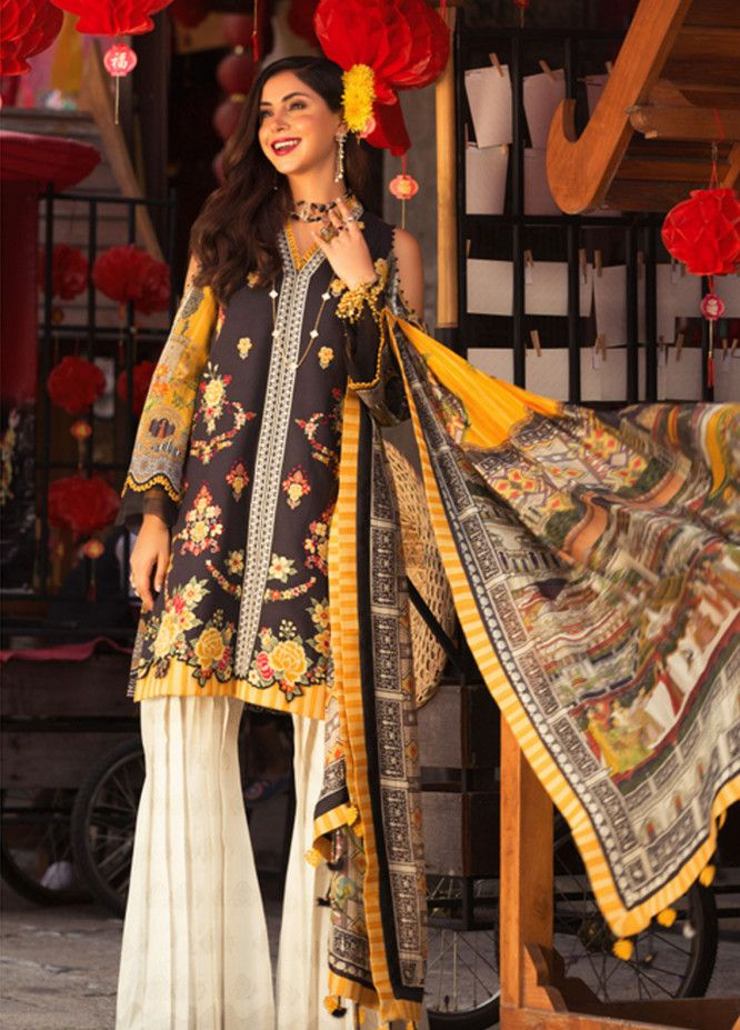 6565101873 Noor by Saadia Asad Embroidered Lawn Unstitched 3 Piece Suit NSA19L 7A -  Spring / Summer Collection