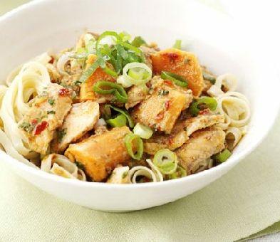 Thai salmon noodles    http://www.ibssanoplus.com/thai_slamon_noodles.html