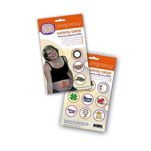 Tummy Tatts are temporary belly tattoos that enable an expecting mom to flaunt her belly with style and flair.  Tummy Tatts apply in seconds, last for days and look great!  Made with FDA approved inks. Each pack includes 20 colorful tummy tattoos created especially for use on pregnant bellies. Each tattoo measures approximately 2 inches in diameter.