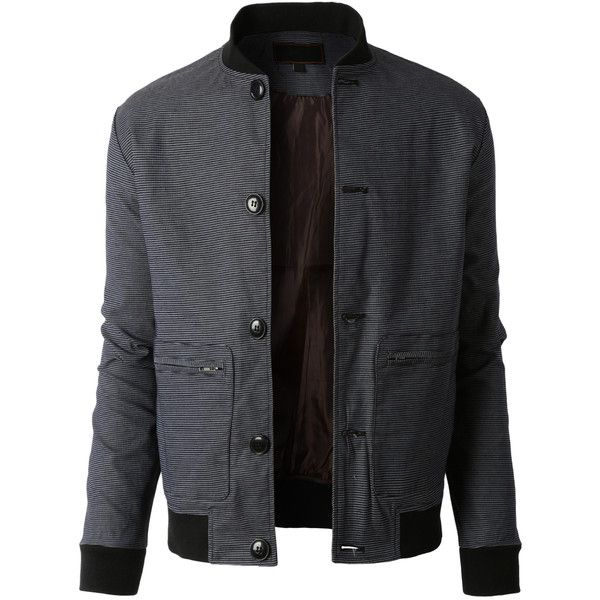 LE3NO Mens Lightweight Slim Fit Windbreaker Bomber Jacket ($35) ❤ liked on Polyvore featuring men's fashion, men's clothing, men's outerwear, men's jackets, mens slim fit jacket, mens jackets, mens light weight jackets and mens flight jacket
