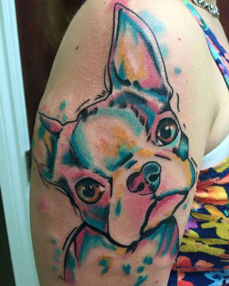 Dog Tattoos, Boston Terrier