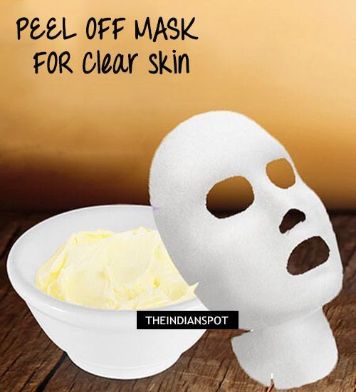 Get clear skin with homemade beauty recipes, they are inexpensive and all natural to keep your skin healthy and perfect. This natural peel off mask helps to clear skin from excess oil, dirt, blackheads and also tighten pores.  For this natural peel off mask, you will need: 1 Egg white 1 tsp Lemon juice