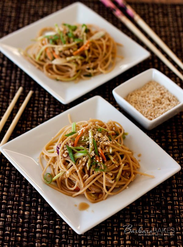 Whole Wheat Noodle Salad with a Spicy Peanut Sauce (love how Barbara Bakes adapted my recipe!)