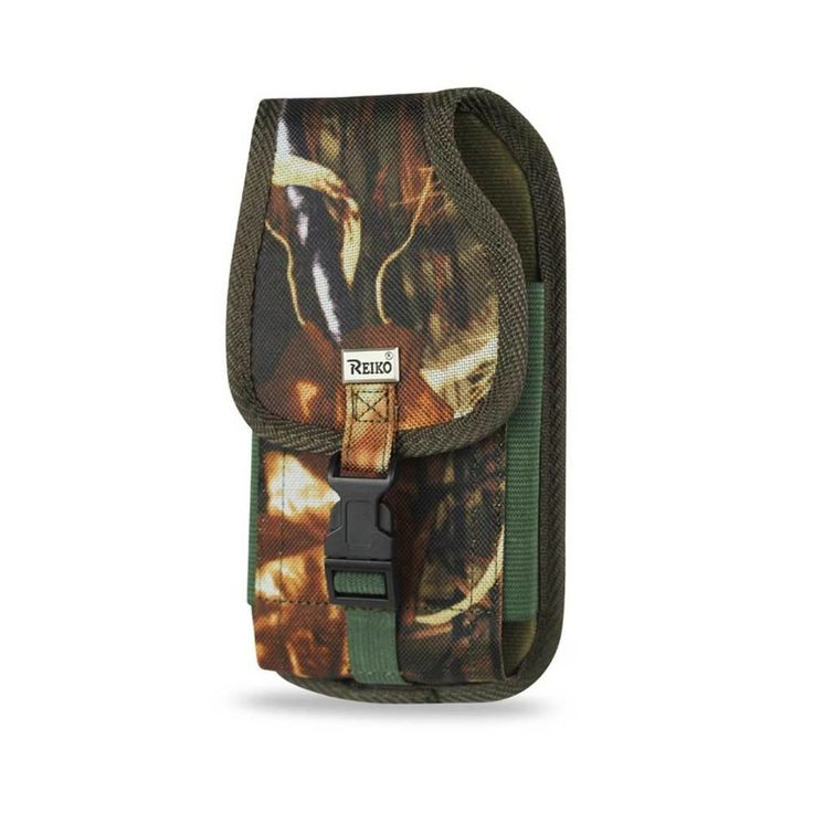 Reiko Vertical Rugged Pouch With Buckle Samsung Galaxy Note2 N7100 Plus Leaves Pattern