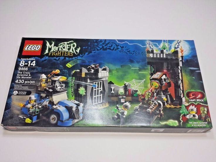 LEGO 9466 Monster Fighters The Crazy Scientist & His Monster NEW NIB Retired Set #Lego #Halloween #ebay