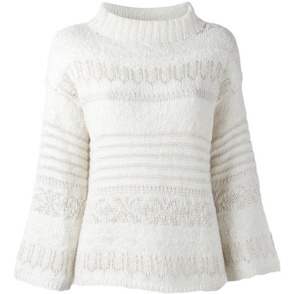 Polo Ralph Lauren high neck jumper (3 195 SEK) ❤ liked on Polyvore featuring tops, sweaters, white, white jumper, white high neck top, white sweaters, jumpers sweaters and high neckline tops
