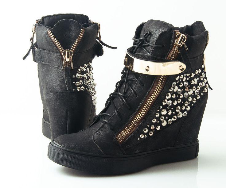 Modne, stylowe, super cena. BUTY!!!  #shoes #sneakers #fashion #kotwbutach #gold #black