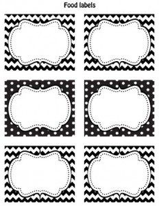 etiquetas para imprimir