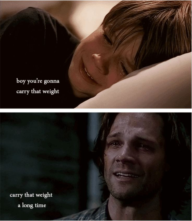[SET OF GIFS] This physically hurt my heart. 3x08 A Very Supernatural Christmas & 8x23 Sacrifice