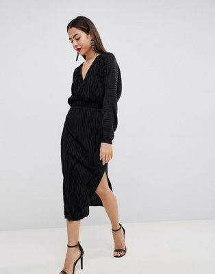 1f657c4c74a29 DESIGN batwing midi plisse dress in 2019 | Lovely stylings | Dresses ...