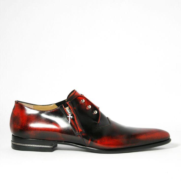 Cesare Paciotti Magic Old Bordo Pressed Leather Loafers (CPM2302)