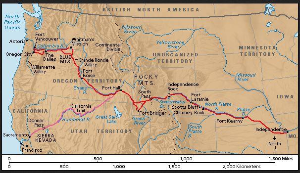 oregon trail map - Google Search