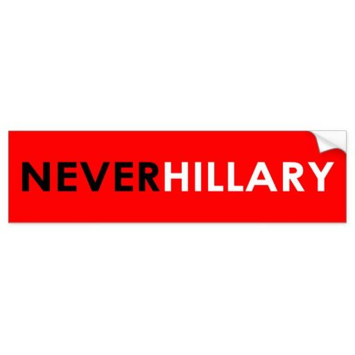 Never Hillary Bumper Sticker (Red) #crookedhillary #neverhillary #trump2016 #feelthebern #livefree