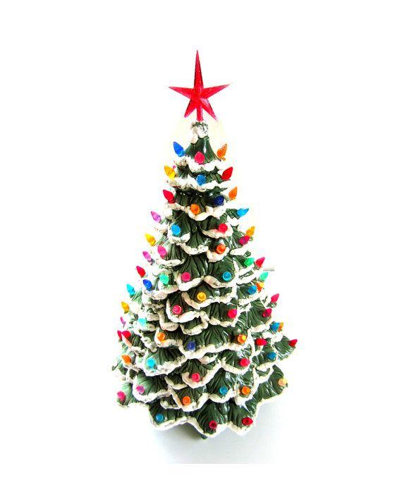 192 best Christmas Ceramic Trees images on Pinterest | Ceramic ...