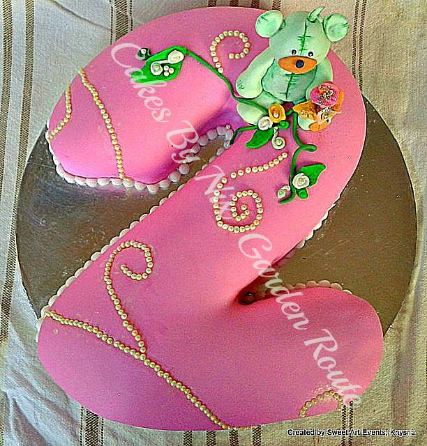 No 2 birthday cake for a girl