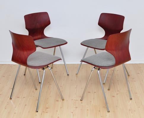 Stühle von Flötotto, 1960er, 4er Set 2