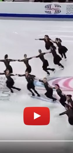 La performance gagnante de patinage synchro