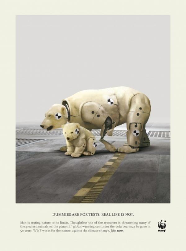 Global Warming advertisement- WWF | Satire, Parody, and ...