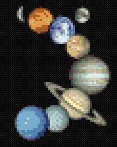 Solar System - MyPhotoStitch.com Free Cross Stitch Pattern Blog