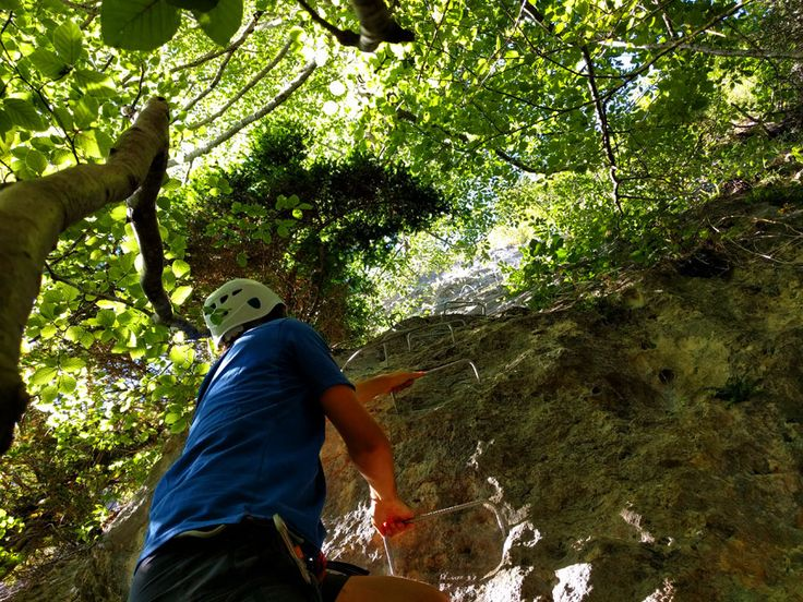 Inicio de la vía ferrata de Larraona en el Parque Natural de Urbasa